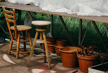 Kleine tuinmeubelen maken